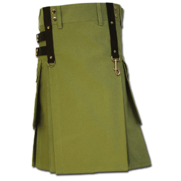Aesthetic Kilt for SteamPunk green 1