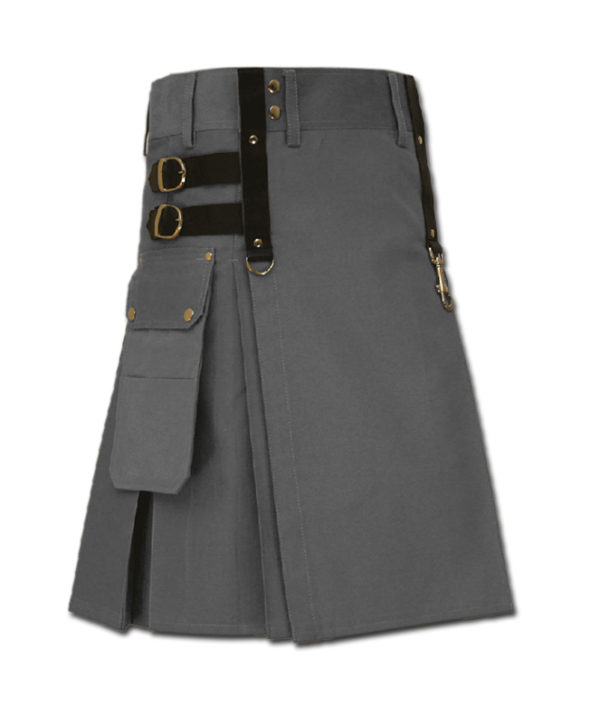 Aesthetic Kilt for SteamPunk grey