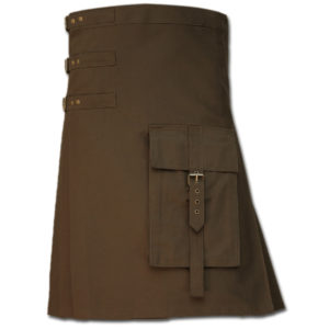Brutal Grace Kilt for Active Men brown 1