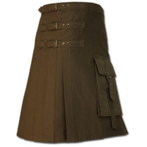 Brutal Grace Kilt for Active Men brown