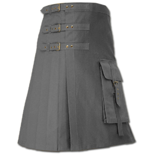 Brutal Grace Kilt for Active Men grey