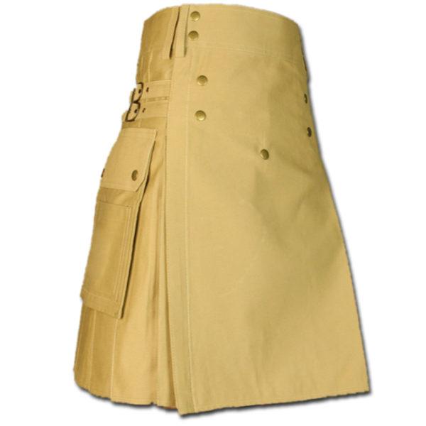 Cargo Kilt for Active Men khaki