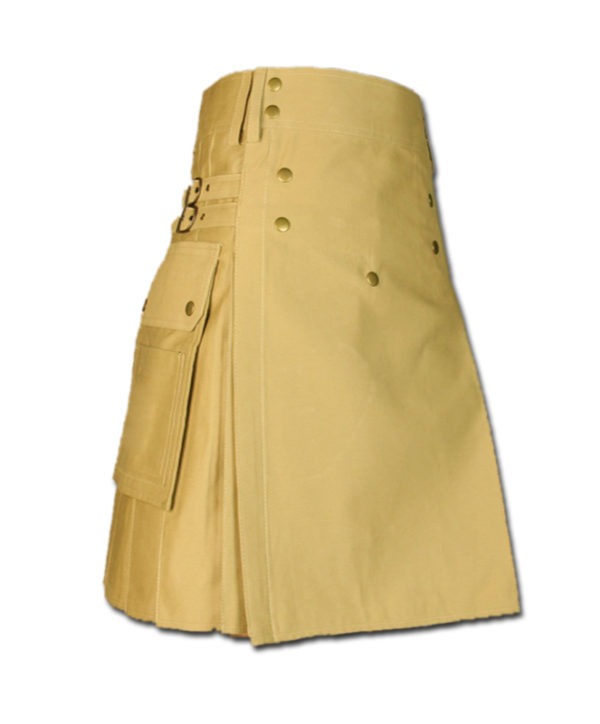Cargo Kilt for Active Men khaki