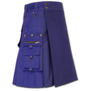 Gothic Kilt for Steampunk blue