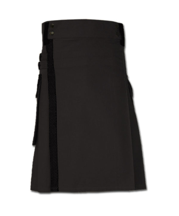 Net Pocket Kilt for Working Men black