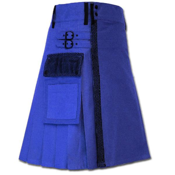 Net Pocket Kilt for Working Men blue 1