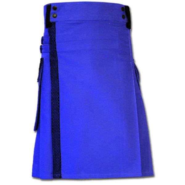 Net Pocket Kilt for Working Men blue