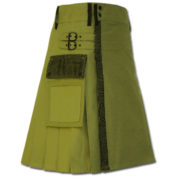 Net Pocket Kilt for Working Men green 1