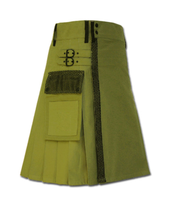 Net Pocket Kilt for Working Men green 1