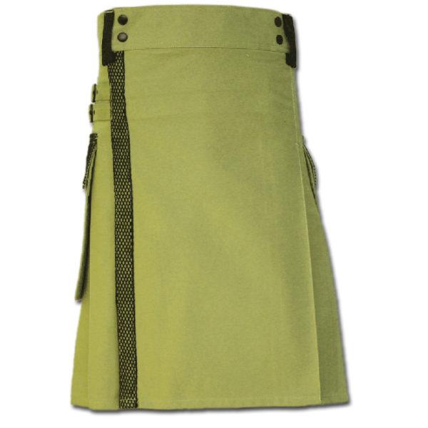 Net Pocket Kilt for Working Men green