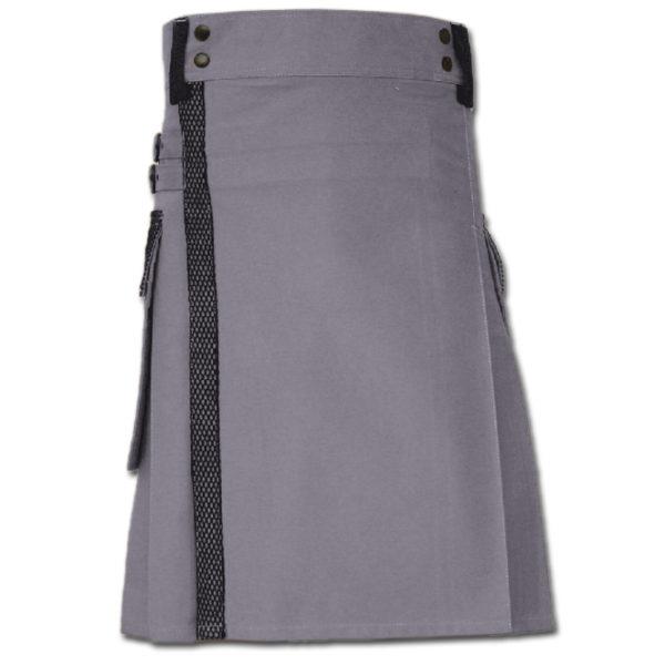 Net Pocket Kilt for Working Men purple