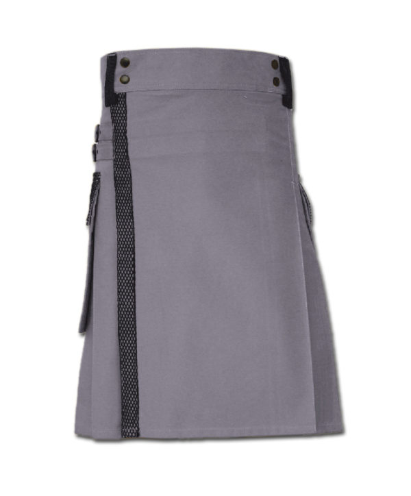Net Pocket Kilt for Working Men purple