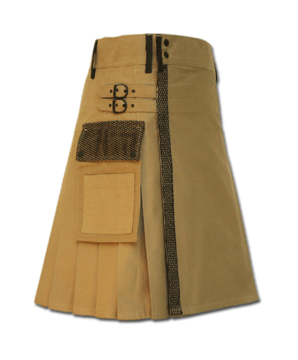 Net Pocket Kilt for Working Men sand 4
