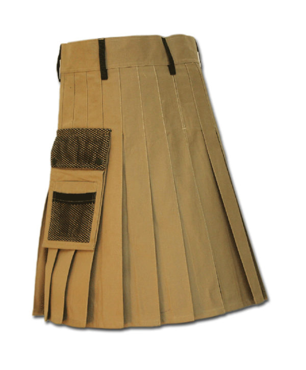 Net Pocket Kilt for Working Men sand 6