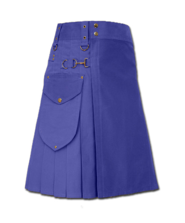 Utility Kilt for Decent men blue