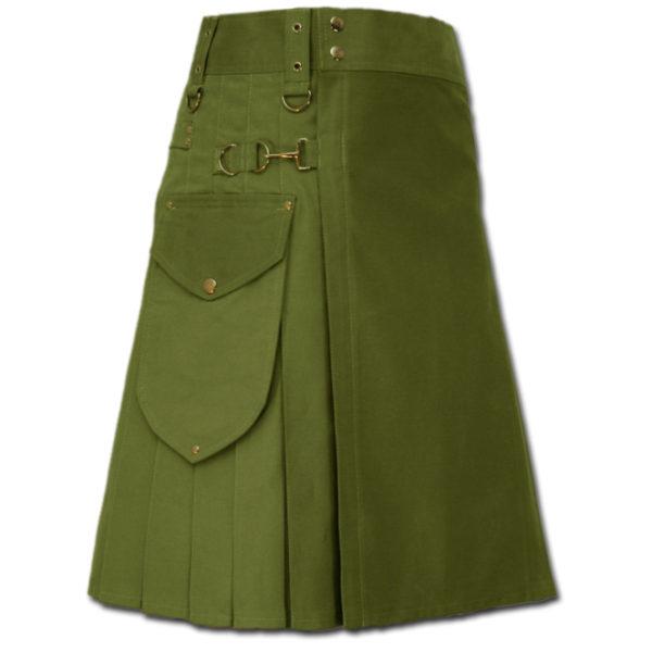 Utility Kilt for Decent men green