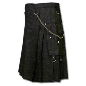 Black Denim Digital Fashion Kilt