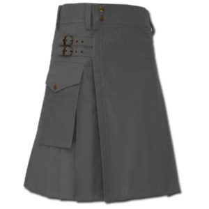 Casual Kilt for Every Men grey