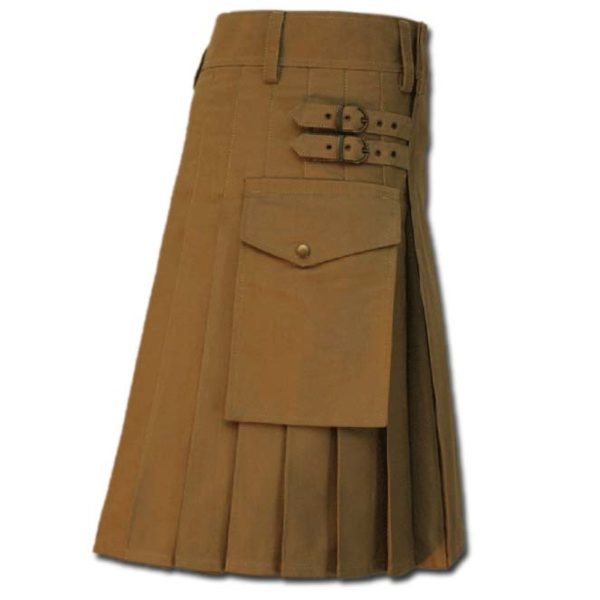 Casual Kilt for Every Men khaki 4