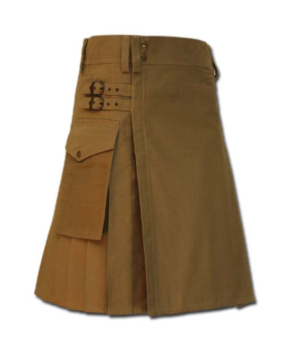 Casual Kilt for Every Men khaki