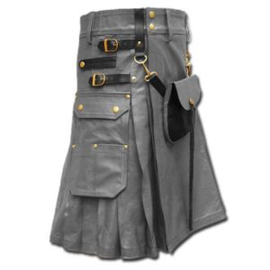 Celtic Leather Kilt with Leather Sporran