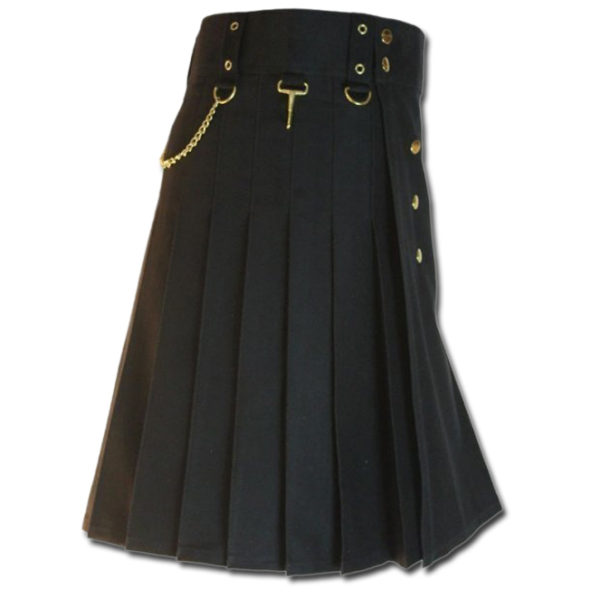 Contrast Pocket Kilt for Royal Men black5