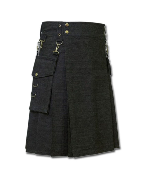 Deluxe Denim Fashionable Kilt-2