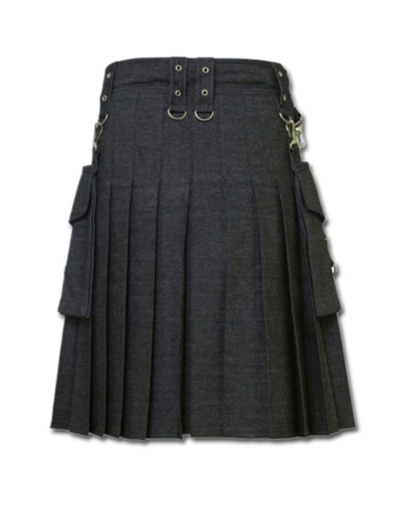 Deluxe Denim Fashionable Kilt-3