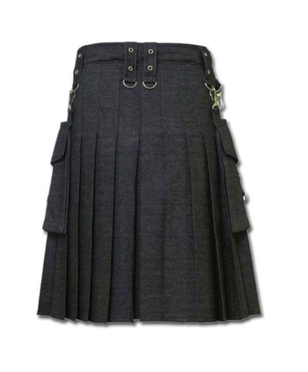 Deluxe Denim Fashionable Kilt-3
