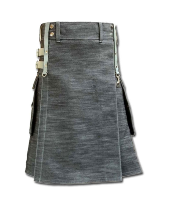 Denim Kilt for Stylish Men-1