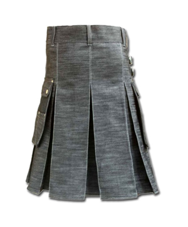 Denim Kilt for Stylish Men-2