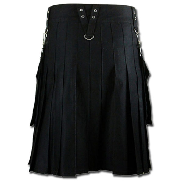 Detachable Pockets Kilt for Running Man black 2