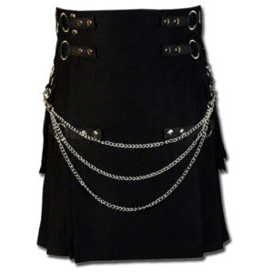 Fashion Kilt for Stylish Men black 1