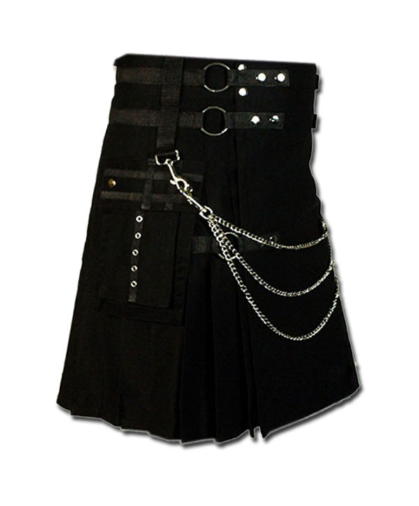 Fashion Kilt for Stylish Men black 2