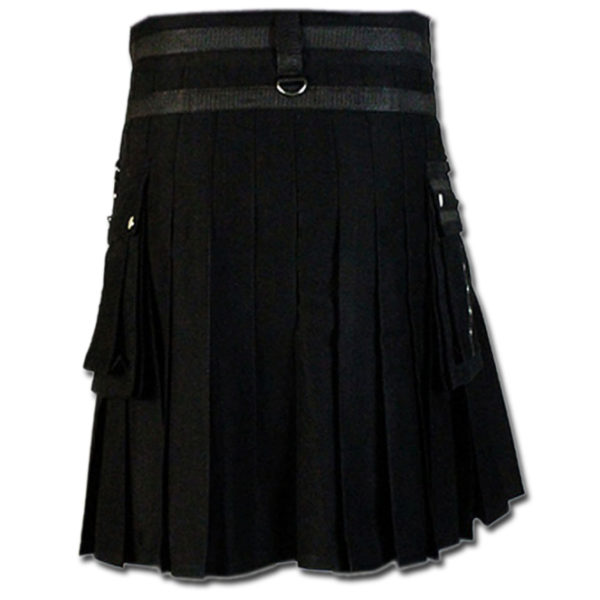 Fashion Kilt for Stylish Men black 3