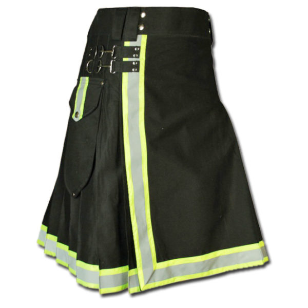 FireFighter High Visibility Kilt black green