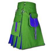 Hybrid Kilt With Sporran-green