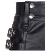 Leather Kilt with Twin Cargo Pockets-3