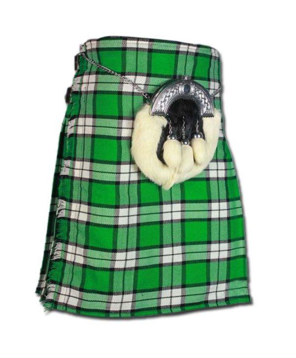 Longniddry Green Modern Tartan Kilt-1