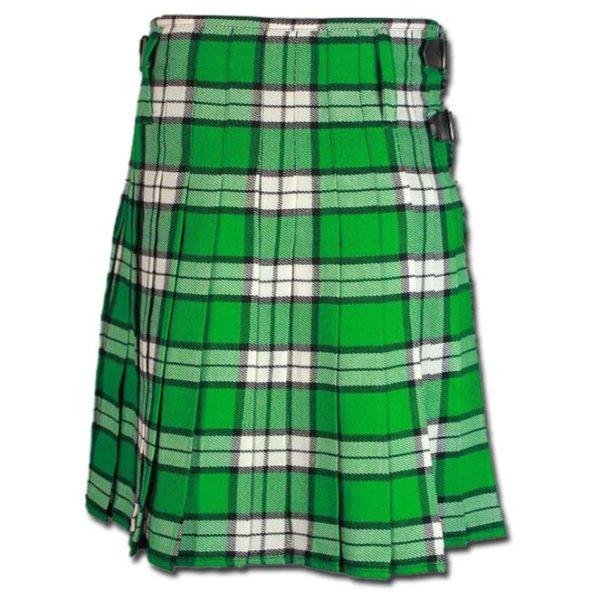 Longniddry Green Modern Tartan Kilt-3