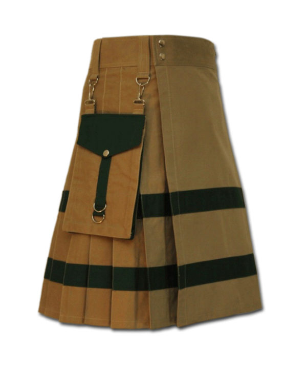 Modern Kilt For Active Men sand