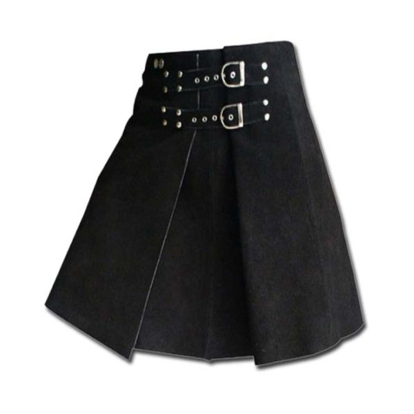 Roman Gladiator Warrior Leather Kilt-1