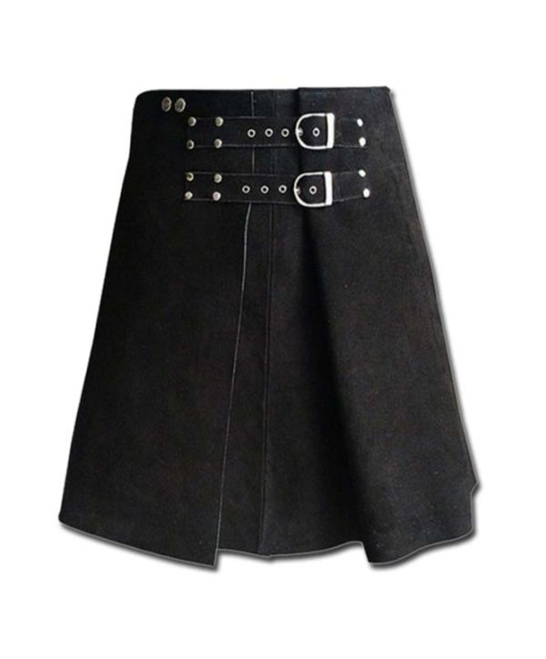 Roman Gladiator Warrior Leather Kilt-2