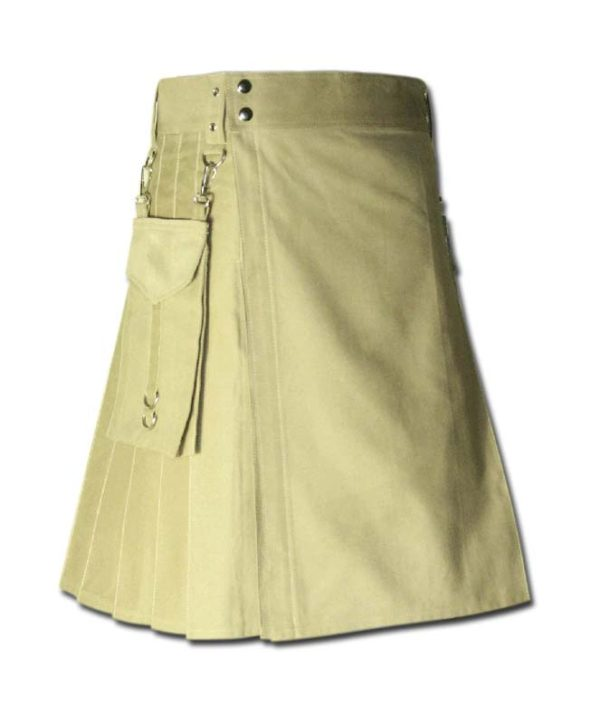 Running Kilt for Sports Men beige