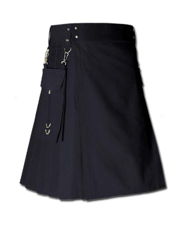 Running Kilt for Sports Men black