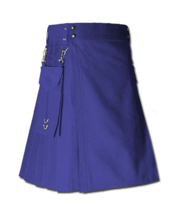 Running Kilt for Sports Men blue