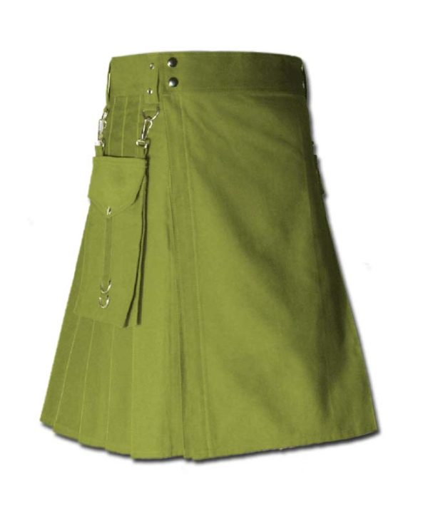 Running Kilt for Sports Men green