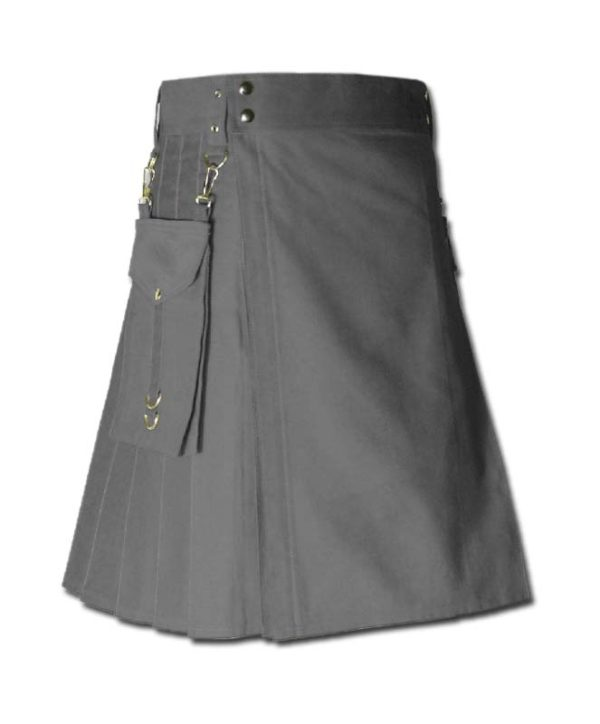 Running Kilt for Sports Men grey