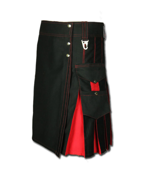 Santa claus Kilt for Stylish Men red black 1