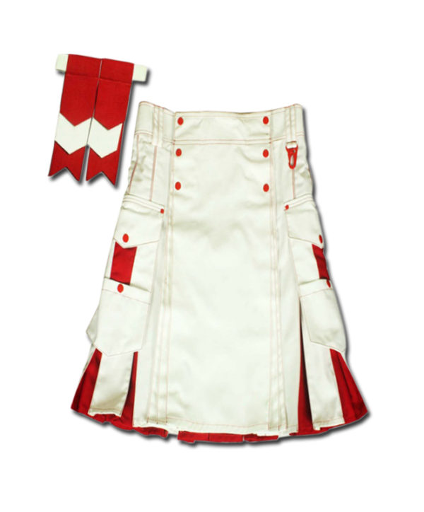 Santa claus Kilt for Stylish Men red white
